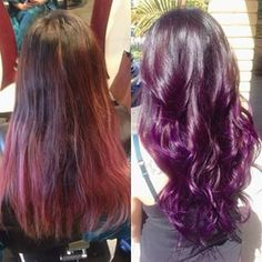 purple balayage with brown hair , Google Search