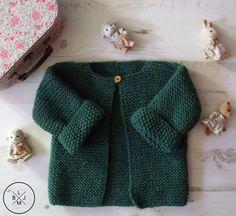 Bonjour Et Bienvenue Pour Un Nouveau Diy - Diy Crafts Knitting For Kids, Baby Knitting Patterns, Crochet For Kids, Knitting Ideas, Tricot Baby, Crochet Baby Cardigan, Booties Crochet, Baby Couture, Garter Stitch