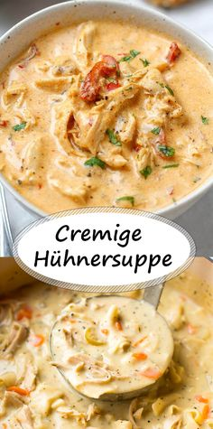 Creamy chicken soup - All Recipes Creamy Chicken Casserole, Chicken Soup, Shrimp Soup, Seafood Soup, Casserole Recipes, Soup Recipes, Cooking Recipes, Dinner Recipes, Good Food
