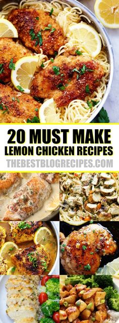 20 Easy Lemon Chicken Recipes perfect for your weeknight dinner rotation!