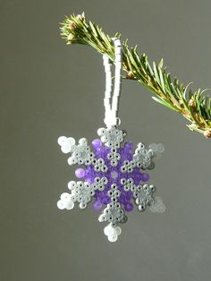 Winter snowflake perler beads by Lola C. - Perler® | Gallery