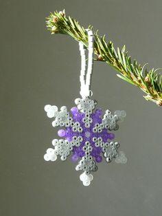 Winter snowflake perler beads by Lola C. - Perler®   Gallery
