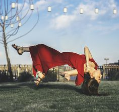 Flying with Red  #levitation  #red #fly #model #woman #flyinggirl #sky #photography #photo