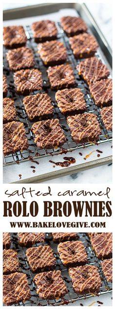 Salted Caramel ROLO Brownies - you won't believe how much flavor is packed into these bite-sized treats