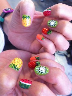 DaaaangGirl! - Nail Art - Good enough to eat! Can't go wrong with SUMMER...