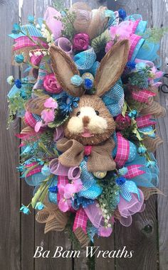 Hey, I found this really awesome Etsy listing at https://www.etsy.com/listing/268132532/bunny-wreath-easter-swag-spring-wreath