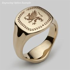 Our Signet ring is a true modern classic, handmade our London workshops in a variety of precious metal options including solid 9, 14 and 18 carat yellow gold. This unique signet ring has a wonderful comfort fit and is perfect for men and women, and yes it is an ideal gift. Personally I have already designed my own crest and am going to give these signet rings to my entire family. You also have the option of having it engraved and personalised with initials, a date or special message. *If…