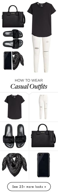"""Casual"" by melaniemeran on Polyvore featuring Alexander McQueen, Karl Lagerfeld, Puma, Belkin and MCM"