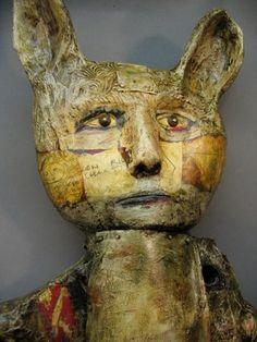 Terry Turrell - Cattails detail La Face, Art Brut, Altered Art, Altered Books, Sculpture Art, Animal Sculptures, Ceramic Figures, Naive Art, Outsider Art