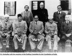 Events of the day in History A drafting committee was set up with B.R Ambedkar as the Chairman to draft the Constitution of India. History Major, American History Lessons, World History Lessons, History For Kids, History Projects, Women In History, History Jokes, History Timeline, History Facts