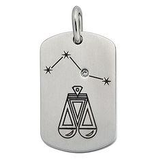 Dog Tags, Flask, Dog Tag Necklace, Ebay, Jewelry, Libra Zodiac, Stars, Stainless Steel, Jewelery