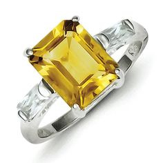 Sterling Silver Citrine Ring * You can get additional details at the image link. (This is an Amazon Affiliate link and I receive a commission for the sales)