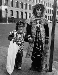 Children in Halloween costumes photographed by Larry Racioppo NYC, 1974 - 1978