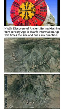 NWS Artifacts also finds Google Earth  anomalies before antediluvian times. Could be instinct Volcano but it could be something like awsome scale of rock cutting technology that Sure can answer all the ooStonecutting.