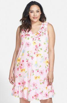 Lauren+Ralph+Lauren+Floral+Print+Jersey+Nightgown+(Plus+Size)+available+at+#Nordstrom