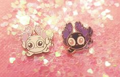 Glow-in-the-dark Axolotl Pin (Limited Edition) by ScarletteArt on Etsy