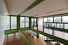 Tony's Farm by Playze made out of Shipping Container - Walls, ceiling, windows, lighting and staircase