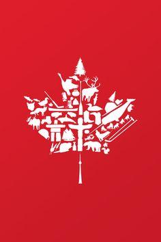 Gorgeous Canadian maple leaf artwork
