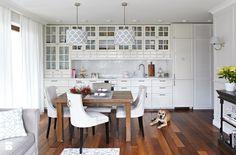 50 m2 Nowego Jorku - Mała kuchnia jednorzędowa w aneksie, styl nowojorski - zdjęcie od wz studio new yor style | inspiration | home design | white kitchen | modern