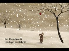 The Red Apple by Winged Chariot--lovely, quiet story with rich illustrations, viewable in multiple languages, great narration.
