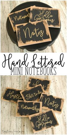 These EASY DIY Hand Lettered Mini Notebooks are the perfect little DIY gift to keep on hand for when a friend or family member needs a little pick me up!