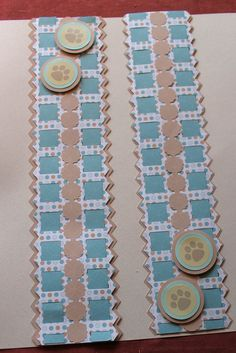 Cabana paper and family stickers made using creative memories border maker system