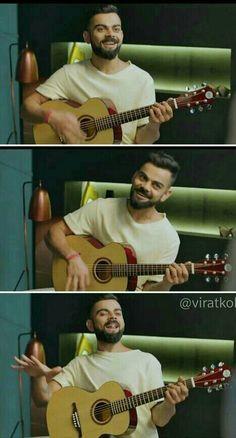 Sirji with Gitar Rocks. Anushka Sharma And Virat, Virat Kohli And Anushka, Virat Kohli Quotes, Love You Baby, My Love, Virat Kohli Instagram, Virat Kohli Wallpapers, Some People Say, Beard Styles