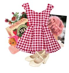 """🐭🌹🐭"" by glitter-and-mermaids ❤ liked on Polyvore featuring Topshop, red and strawberry"