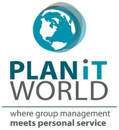 PlanIt World | Logo Design by Kalico Design www.kalicodesign.com #logo #identity #branding #association #world