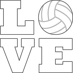 Volleyball Love Square White Typography Sticker! Great for scrapbooking! #volleyball #love #stickers #volleyballscrapbook