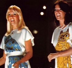 Agnetha Fältskog and Anni-Frid Lyngstad of ABBA.