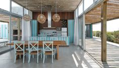 House of Turquoise: Martin Gomez Arquitectos. Unbelievable home. Turquoise Kitchen, House Of Turquoise, Coastal Homes, Coastal Living, Decorating Your Home, Interior Decorating, Outdoor Dining, Outdoor Decor, Outdoor Spaces