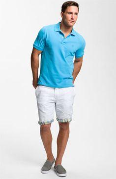 Reversible seersucker shorts.