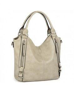 88b1a6f6a4 Women Handbags Hobo Shoulder Bags Tote PU Leather Handbags Fashion Large  Capacity Bags - Apricot - CW187TRQDNT