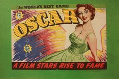 OSCAR A Film Stars Rise To Fame Vintage Board by TriBecasVintage, $240.00