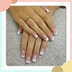 Hoe French Nail Art More te doen Französisch Nägel White French Nails, White Tip Nails, French Acrylic Nails, French Manicure Nails, French Nail Art, Long Acrylic Nails, French Tip Nails, Diy Nails, Cute Nails