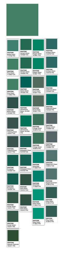 Pine (web) and Pantone related colors