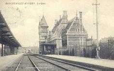 Het oude station van Berchem.