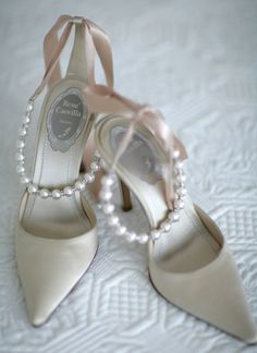 shoes with pearls...
