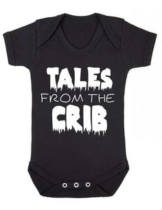 Tales From The Crib Old Horror Movie Poster Parody Halloween Baby Baby Onesie Vest