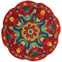Looking for a rug for my entryway. Afraid this might be too busy, but I love the colors!  And it's the right size.  And the right price, for $59.95