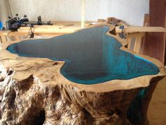 Glass Lake Couchtisch - Resin Furniture and More - Epoxy