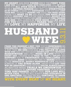 beautiful vows i want to do something like this with our vows