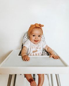 Still can't get over the fact that she is big enough to sit in a high chair! Why do they grow up so fast!  #pennyrose @yeahbabygoods