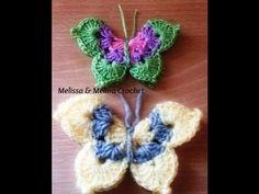 Papillon au crochet facile/Crochet Mariposa/Crochet Butterfly - YouTube