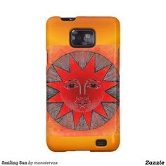 Smiling Sun Galaxy S2 Cover #Sun #SunShine #Star #SoarSystem #Space #Mobile #Phone #Case #Cover #Samsung