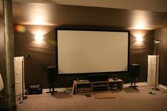 DIY Entertainment Unit for Under Projector Screen - Canadian TV, Computing and Home Theatre Forums