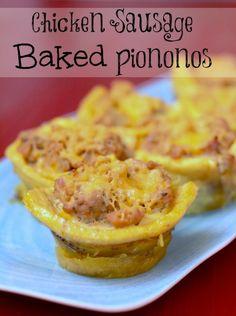 Chicken Sausage Baked Piononos