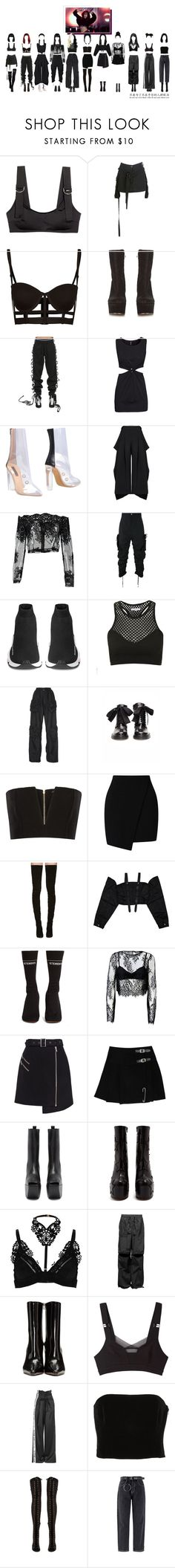 """11:11 - PREDEBUT DANCE PRACTICE"" by careful-what-you-wish-for ❤ liked on Polyvore featuring Maison Margiela, Puma, H&M, Yeezy by Kanye West, Maticevski, FourTwoFour on Fairfax, Balenciaga, Topshop, J.W. Anderson and A.F. Vandevorst"
