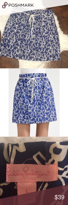 Lilly Pulitzer Avery Anchors Away Skirt Lilly Pulitzer Avery Skirt • anchors away Print • nautical rope belt • Pockets • Like New Condition • no trades Lilly Pulitzer Skirts